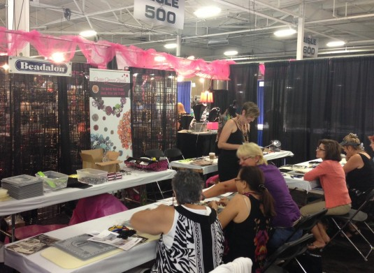 Candie Cooper Teaching at the Jesse James Beads Workshop