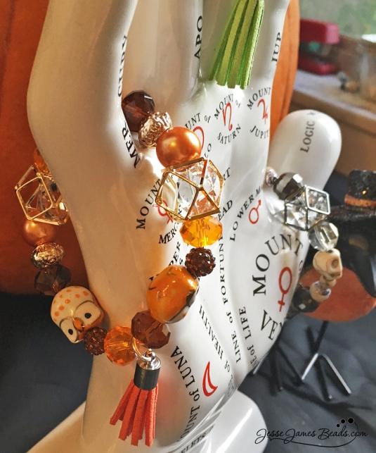 autumn owl bracelet