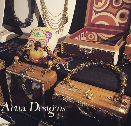 Cigar Handbags by Artia Designs made with Jesse James Beads